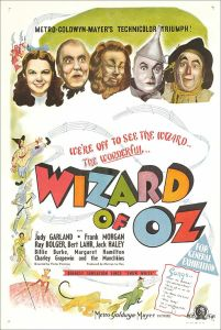 Wizard of Oz Movie poster Courtesy Wikimedia Commons
