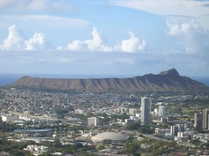 Diamond Head Crater, Honollulu Hawaii Courtesy Wikimedia Creative Commons Attribute Share Alike 3.0