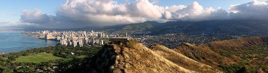 Honolulu's Diamond Head crater overlooking Waikiki Beach Courtesy Wikimedia Commons Creative attribution 3.0
