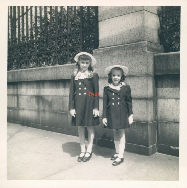 1943-New York-Paula (age 10) Cookie (age 6)-5th Avenue Easter Parade copy